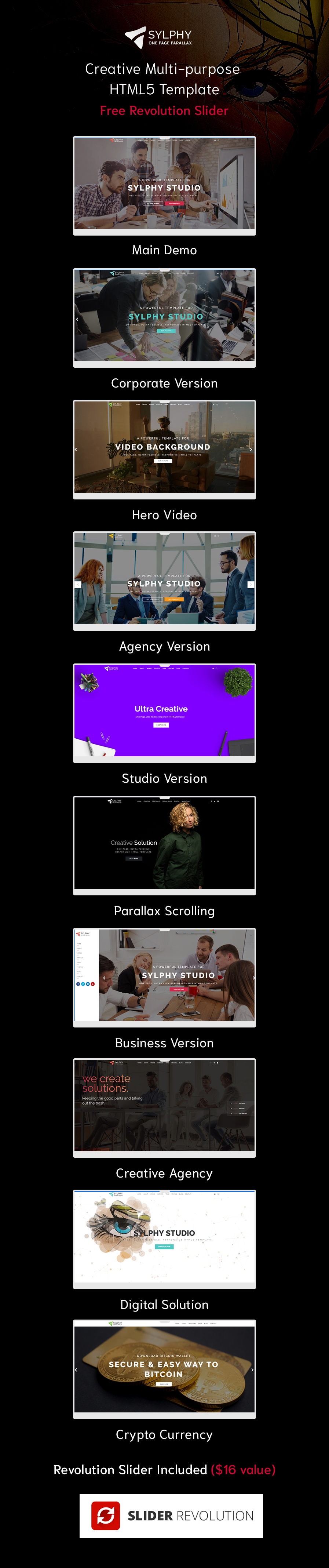 Sylphy - Creative Multi-purpose HTML5 Template - 1